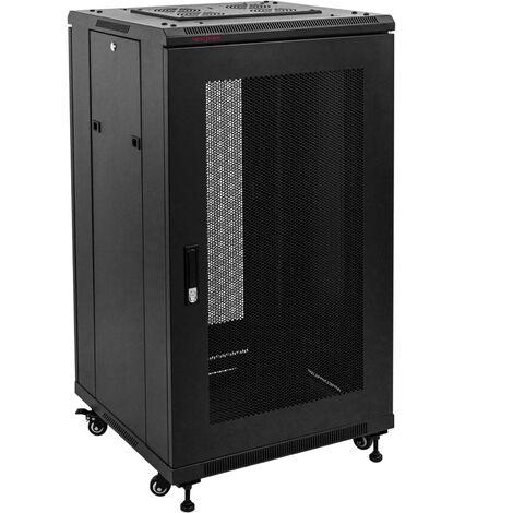 """RackMatic - Server rack cabinet 19"""" 22U 600x600x1090 mm floor standing black MobiRack"""