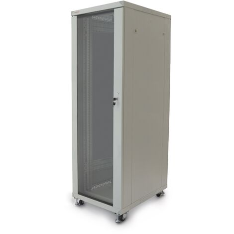 RackMatic - Server rack cabinet 19 inch 33U 600x800x1600mm floor standing white MobiRack by RackMatic