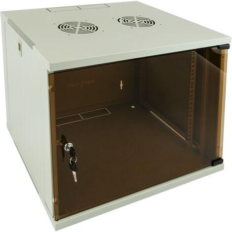"main image of ""RackMatic - Server rack cabinet 19"" wallmount 9U white SOHOrack 540x450x448 mm"""