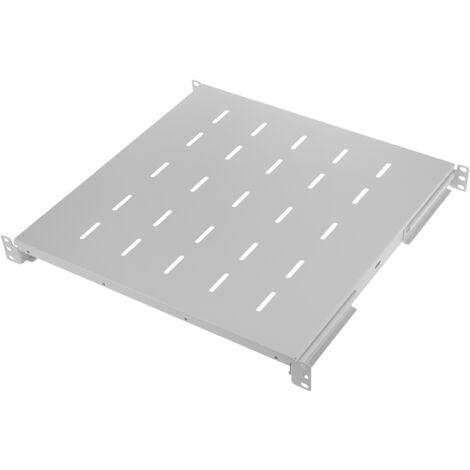 "RackMatic - Tray rack 19"" adjustable shelf in depth 450 mm 1U white"