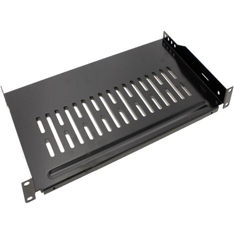 """RackMatic - Tray shelf for cabinet server rack 19"""" front attachment 1U 255 mm depth"""