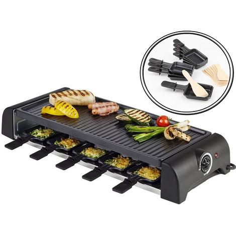 Raclette Barbecue Grill 1500W Piastra Elettrica Alluminio Antiaderente Da Tavolo