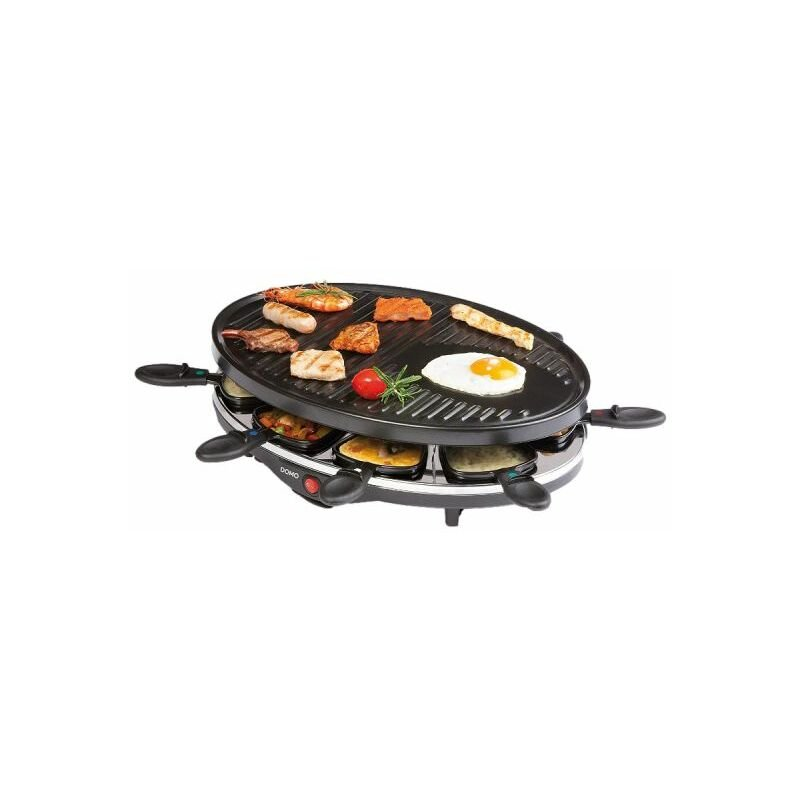 raclette grill domo 8 people do9038g
