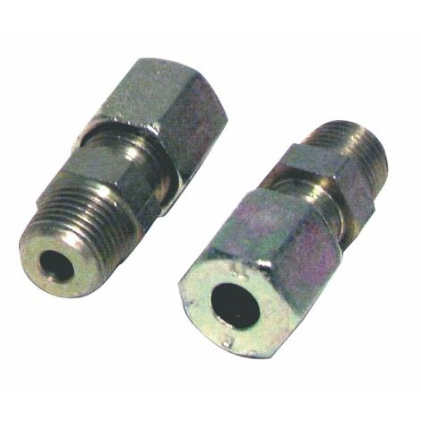Racor de compresión recto M3/8 x tubo 10mm (X 2) - DIFF