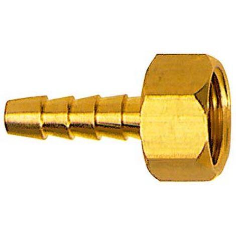 Racor de tubo flexible con rosca hembra G3/8 Agujero interior ancho de tubo 6 latón