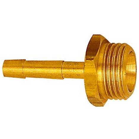 Racor de tubo flexible con rosca hembra masculino, empalme : G 3/8 pulgadas, para tubo flexible LW 9 mm, OC 19 mm, Largo : 48,5 mm