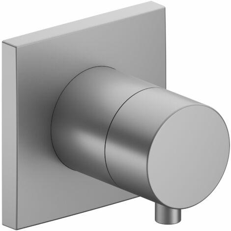 Racor Keuco IXMO 59557, válvula de cierre y conmutación empotrada de 2 vías, roseta cuadrada, maneta Comfort, color: acabado en aluminio - 59557171002