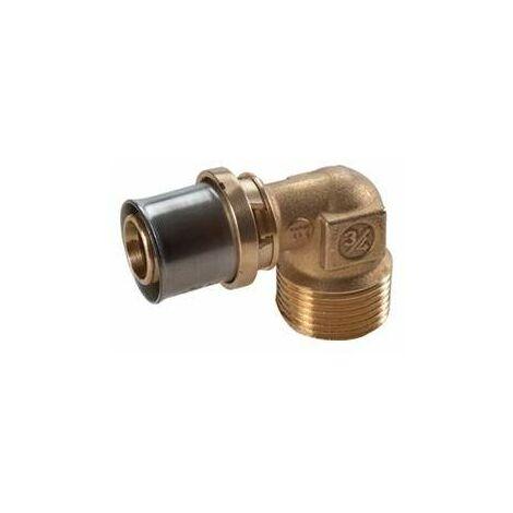 Racor roscado de 90 ° para presionar multipolo giacomini RM127