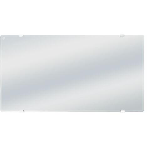 Radiador con panel de cristal efecto espejo