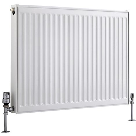 Radiador Convector Horizontal con Panel Doble Plus - Blanco - 600mm x 800mm x 73mm - 1071 Vatios - Eco