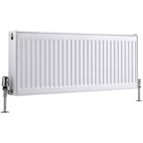 Radiador Convector Horizontal Doble - Blanco - 400mm x 1000mm x 103mm - 1155 Vatios - Eco