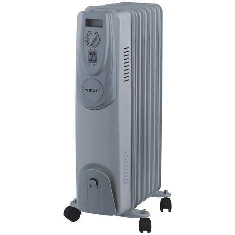 Radiador de aceite 7 elementos Nevir 1500 W