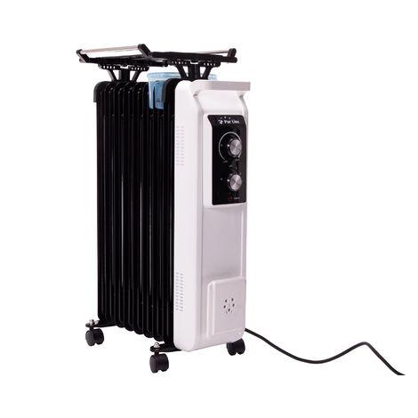 Radiador de aceite de 2000W con tendedero y recipiente humidificación