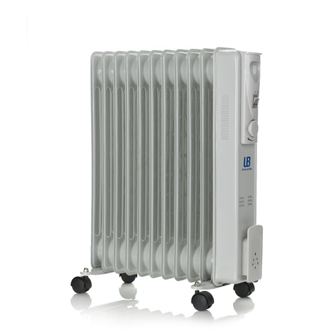 Radiador de aceite de 2500W con 11 elementos calefactores UNIVERSAL BLUE URA 2500-16