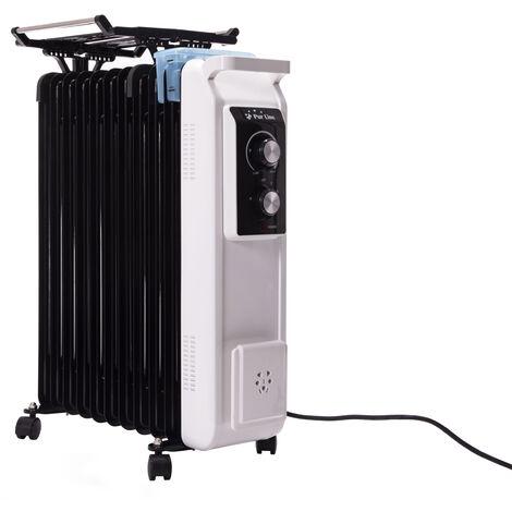 Radiador de aceite de 2800W con tendedero y recipiente humidificación