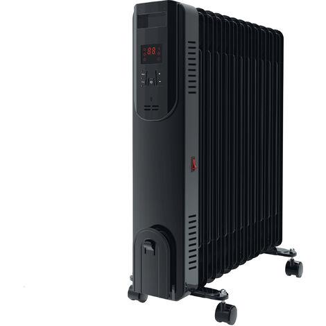 Radiador de aceite digital 2500W con control WIFI color negro