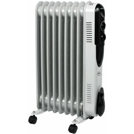 Radiador de aceite soporte eléctrico calefacción móvil 3 etapas calentador 2000 vatios termostato ajustable Elta OR  -1409