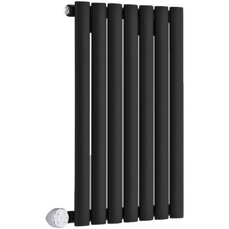 Radiador de Diseño Eléctrico Horizontal - Negro - 635mm x 415mm x 55mm - Revive