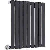 Radiador de Diseño Eléctrico Horizontal - Negro - 635mm x 630mm x 46mm - Delta