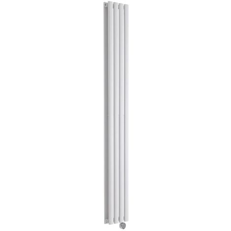 Radiador de Diseño Eléctrico Vertical Doble - Blanco - 1780mm x 236mm x 78mm - Revive