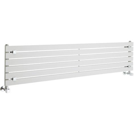 Blanco 480 x 1600 mm ECD Germany Stella Design Radiador de panel Radiador Dise/ño Vertical Decorativo Moderno