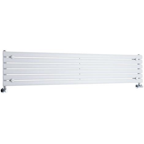 Radiador de Diseño Horizontal - Blanco - 354mm x 1780mm x 56mm - 888 Vatios - Revive