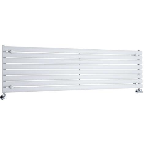Radiador de Diseño Horizontal - Blanco - 472mm x 1780mm x 56mm - 1161 Vatios - Revive