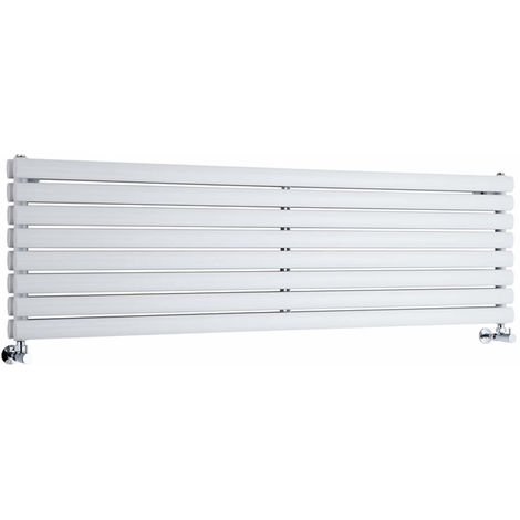 Radiador de Diseño Horizontal Doble - Blanco - 472mm x 1600mm x 78mm - 1610 Vatios - Revive