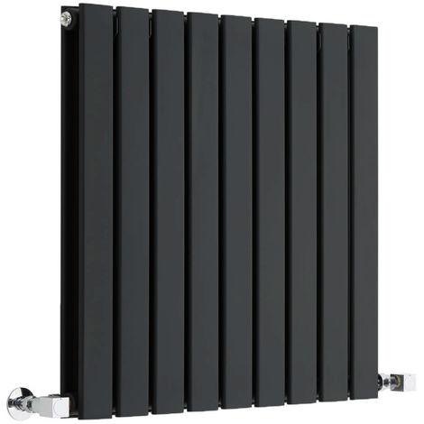 Radiador de Diseño Horizontal Doble - Negro Lúcido- 635mm x 630mm x 58mm - 859 Vatios - Delta
