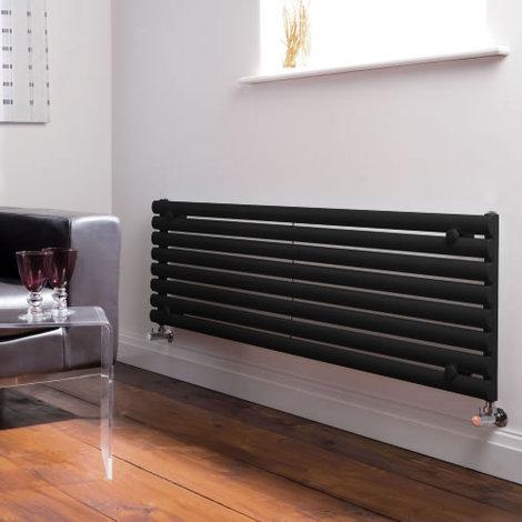 Radiador de Diseño Horizontal - Negro - 472mm x 1600mm x 56mm - 1304 Vatios - Revive