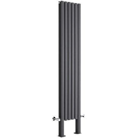 Radiador de Diseño Revive Vertical - Antracita - 1228W - 1800 x 354mm