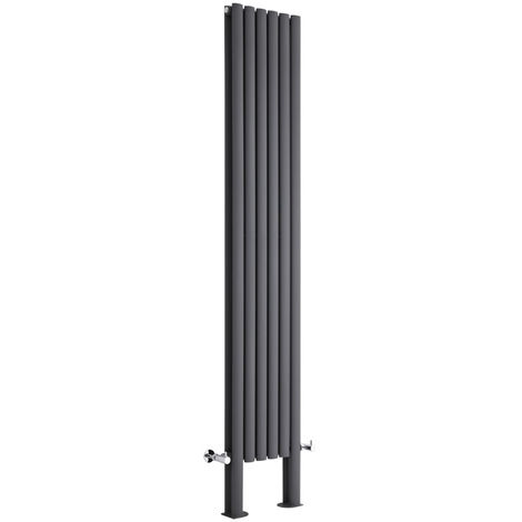 Radiador de Diseño Revive Vertical - Antracita - 1401W - 2000 x 354mm
