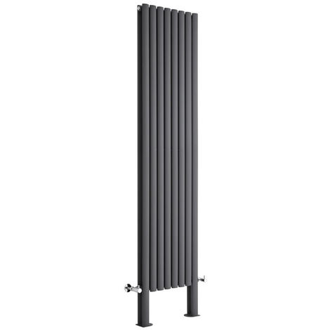 Radiador de Diseño Revive Vertical - Antracita - 1868W - 2000 x 472mm
