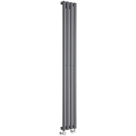 Radiador de Diseño Revive Vertical - Antracita - 561W - 1600 x 236mm