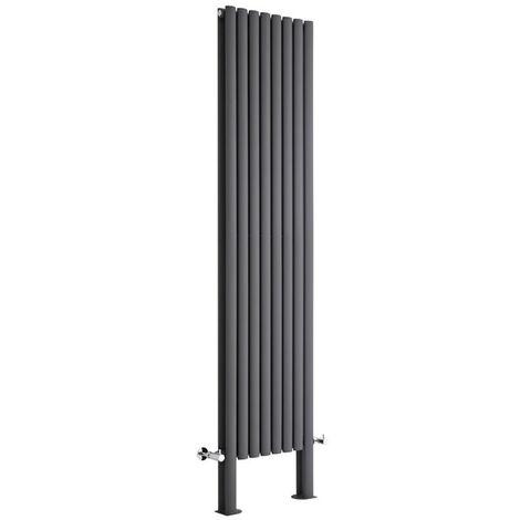 Radiador de Diseño Revive Vertical - Antracita - 595W - 1780 x 236mm