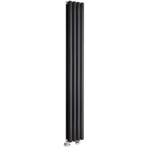 Radiador de Diseño Revive Vertical - Negro - 819W - 1600 x 236mm