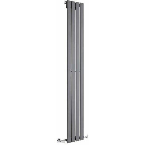 Radiador de Diseño Vertical - Antracita - 1600mm x 280mm x 47mm - 586 Vatios - Delta