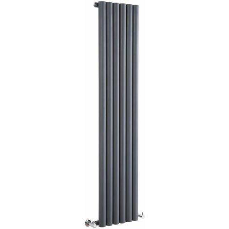 Radiador de Diseño Vertical - Antracita - 1600mm x 354mm x 81mm - 958 Vatios - Savy