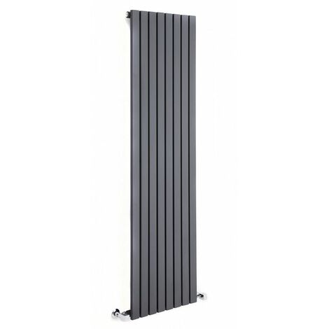 Radiador de Diseño Vertical - Antracita - 1600mm x 472mm x 54mm - 1149 Vatios - Sloane