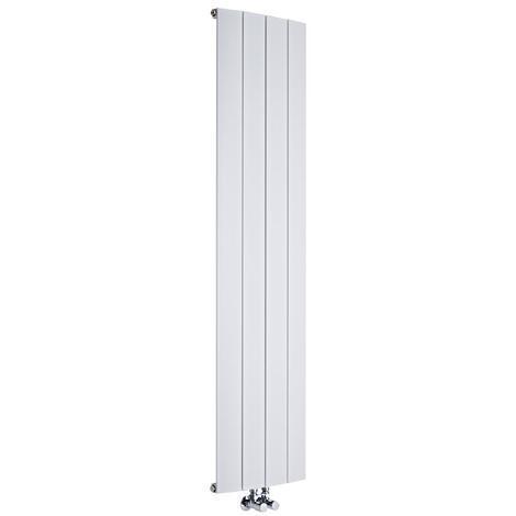 Radiador de Diseño Vertical Con Conexión Central - Aluminio - Blanco - 1800mm x 280mm x 45mm - 1152 Vatios - Aurora