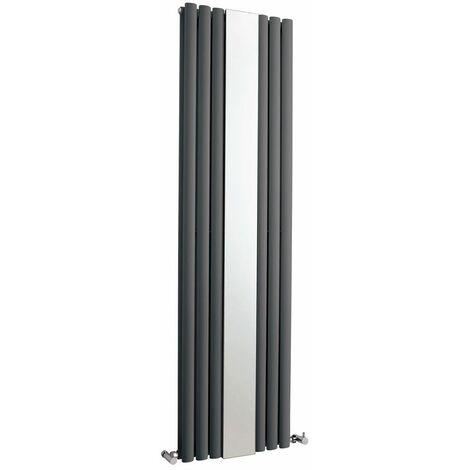 Radiador de Diseño Vertical Doble - Antracita - 1800mm x 499mm x 105mm - 1613 Vatios - Revive