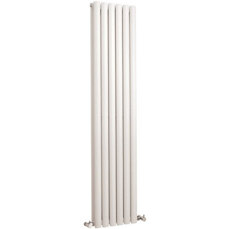 Radiador de Diseño Vertical Doble - Blanco - 1500mm x 354mm x 78mm - 1512 Vatios - Revive