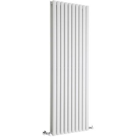 Radiador de Diseño Vertical Doble - Blanco - 1600mm x 590mm x 78mm - 2273 Vatios - Revive
