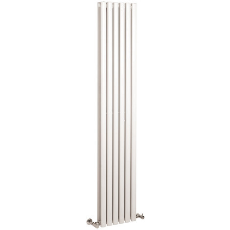 Radiador de Diseño Vertical Doble - Blanco - 1800mm x 354mm x 79mm - 1401 Vatios - Revive