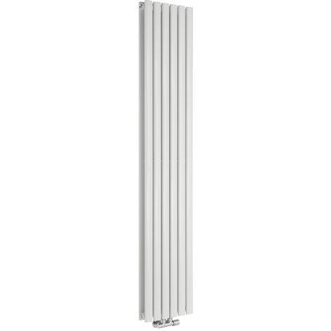 Radiador de Diseño Vertical Doble Con Conexión Central - Blanco - 1780mm x 354mm x 78mm - 1301 Vatios - Revive Caldae