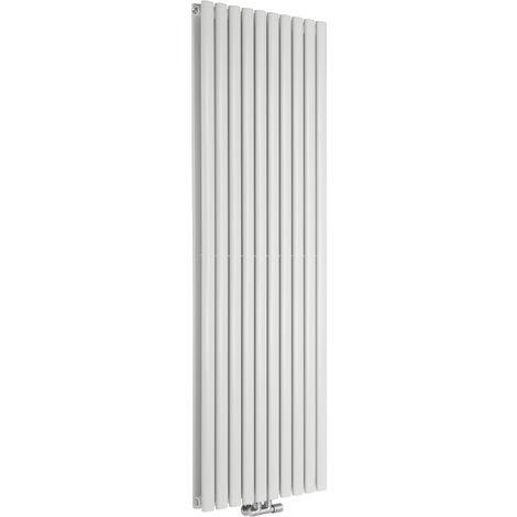 Radiador de Diseño Vertical Doble Con Conexión Central - Blanco - 1780mm x 590mm x 78mm - 2169 Vatios - Revive Caldae