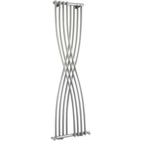 Radiador de Diseño Vertical - Plateado - 1775mm x 450mm x 110mm - 925 Vatios - Xcite