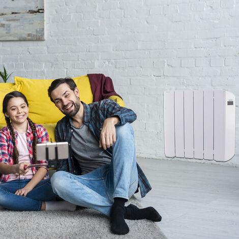 Radiador Eléctrico Bajo Consumo Victoria 1000W (6) · Termostato Blanco