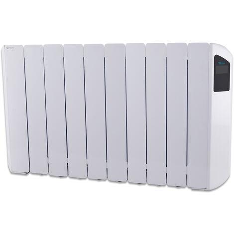 Radiador Eléctrico Bajo Consumo Victoria 1650W (10) · Termostato Negro