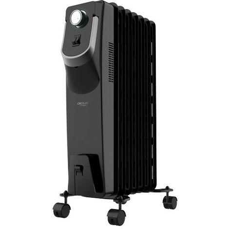 Radiador eléctrico de aceite ready warm 5770 space 360º, potencia 1500w en 3 niveles bajo consumo, 7 modulos, cecotec